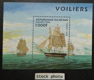 Benin 856. 1996 Sailing Ships souvenir sheet only, NH