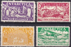 AAT 1954 Expedition Labels MNH (Z9472)