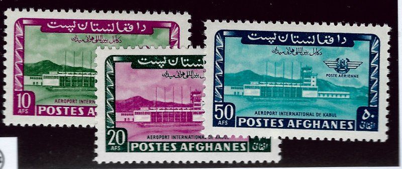 Afghanistan SC C57-59 Mint VF SCV$4.25....Buy before prices go up!