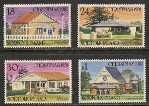 Norfolk Island #283-86 VF MNH - 1981 Christmas
