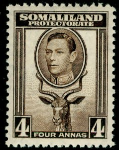SOMALILAND PROTECTORATE SG97, 4a sepia, LH MINT.