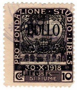 (I.B) Italy Revenue : Fiume Duty 1L on 10c OP