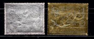 Guinea C115-115A MNH 1972 Gold and Silver Foil;