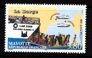 Mayotte MNH Scott #106 3.80fr Ferry 'Salama Djema II'