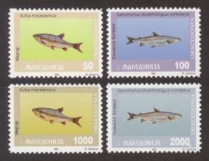 Macedonia Sc# 8-11 MNH Fish