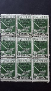 Fiume 1920. - Carnaro overprinted 2L / 5c ** 9x MNH $HCV$