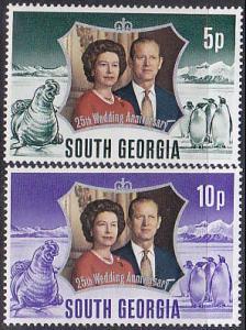 South Georgia 35-6 1972 Silver Wedding Cpl MNH