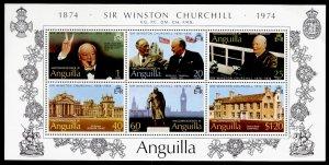 Anguilla 198a MNH Winston Churchill, Architecture, Roosevelt