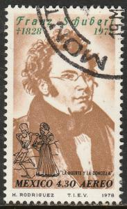 MEXICO C587 150th Anniv of the death of Franz Schubert USED. (823)
