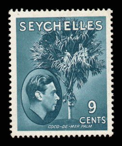 Seychelles 1938 KGVI 9c grey-blue chalk paper SG 137a mint