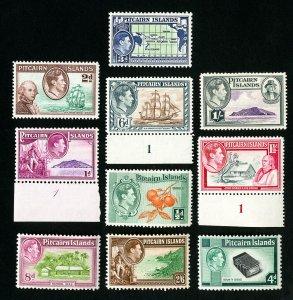 Pitcairn Islands Stamps # 1-8 VF OG NH Catalog Value $75.90