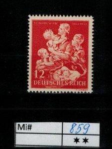 Deutschland Reich TR02 DR Mi 859 1939 Reich Postfrisch ** MNH