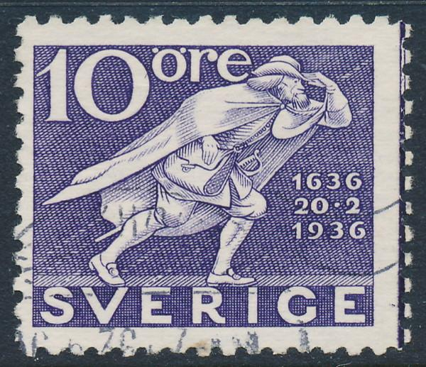 Sweden Scott 249 (Fa 247C), 10ö violet Post Office, F+ Used