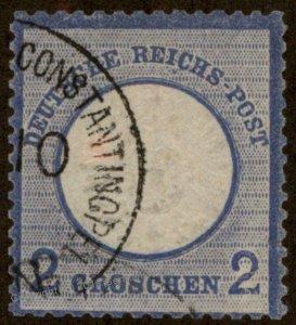 Germany Offices in Turkey MiV20 2gr Vorlaufer Forerunner Deutsche Post Tur 95859
