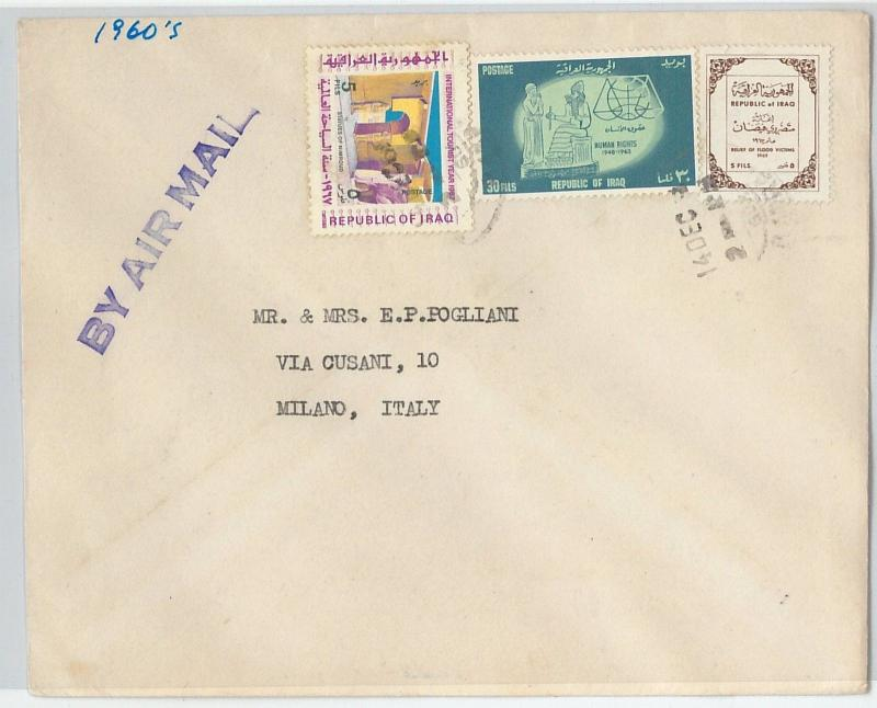 58769  -  IRAQ  - POSTAL HISTORY: COVER to  ITALY - ARCHEOLOGY