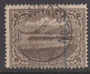 Australia Tasmania Sc#105 Used Watermark Sideways