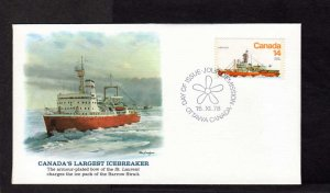 Canada Icebreaker Louis St Laurent Barrow Strait Stamp Cover FDC Ottawa Ontario