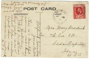 Sierra Leone 1910 Rotifunk cancel on postcard to the U.S., missionary message