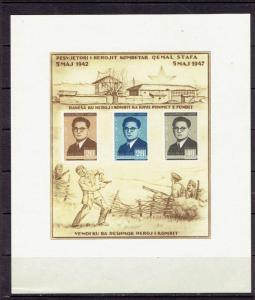 ALBANIA - 1947 5th ANNIVERSARY OF THE DEATH OF STAFA - S/S - SCOTT 393a - MNG