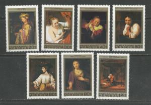 Mongolia MNH 1194-1200 Rembrandt Paintings