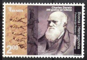 Bosnia 2009 Famous People C. Darwin MNH