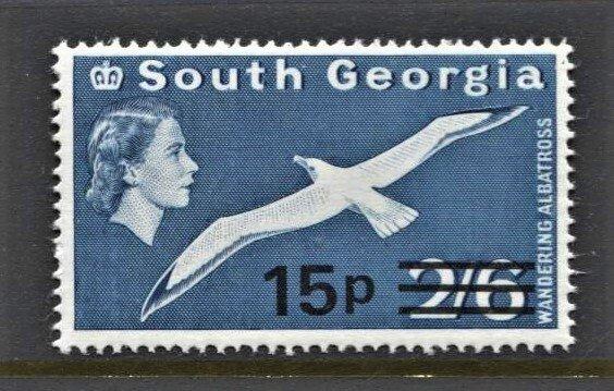 STAMP STATION PERTH -South Georgia #28 MNH OG VF Overprint Definitive Issue