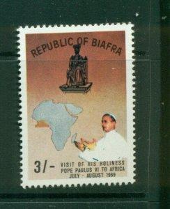Biafra  #30a (1969 Visit of the Pope 3/ high value, brown back) VFMNH CV $75.00