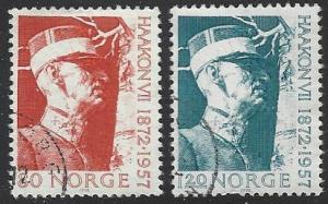 Norway #590-591 Used Full Set of 2