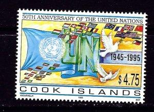 Cook Is 1195 MNH 1995 U.N. Anniversary