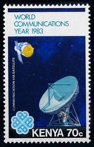 [64397] Kenya 1983 Space Travel Weltraum Satellite From Set MNH