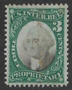 Doyle's_Stamps: 1871 Violet Paper Scott #RB3a Revenue Stamp