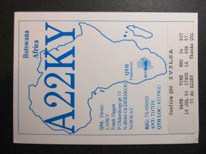10325 Amateur Radio QSL Card BOTSWANA AFRICA