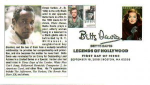 6° Cachets 4350 Bette Davis Ernest Harden, Jr. Hollywood