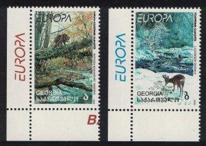 Georgia Brown Bear Chamois Animals National Parks 2v inscript ' Europa'
