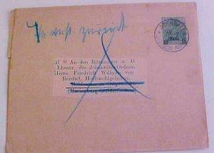 GERMAN PALESTINE JERUSALEM WRAPPER 1900 TO GERMANY