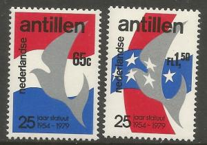 CURACAO,444-445, MNH, DOVE