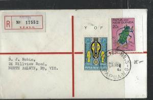 PAPUA NEW GUINEA COVER (P1005B) 1969  REG AROMA  RELIEF #5  TO AUSTRALIA