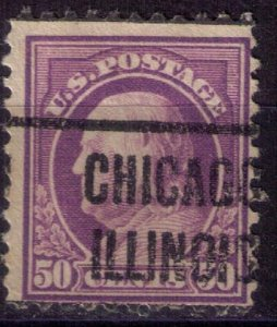 US Sc #517 USED PRECANCELCHICAGO ILLINOIS 50c Very Fine