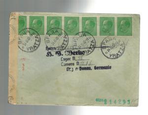 1942 Bulgaria to Germany Donau KZ Concentration Camp Cover Karl Zeiss Werke