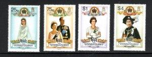 Belize SC853-856 40thAnniv.MarriageOfQueenEliz.II To the DuikeOfEdinborough MNH