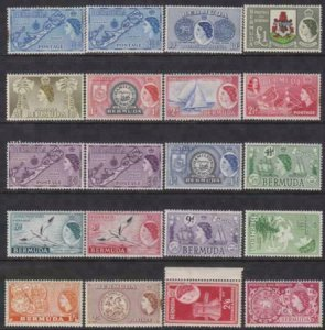 Bermuda 1943-1958 SC 143-162 MNH Set
