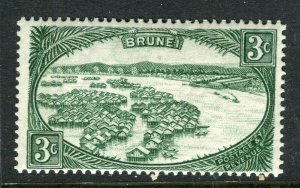 BRUNEI; 1947 early pictorial issue fine Mint hinged 3c. value