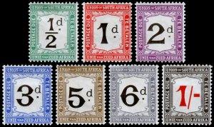 South Africa Scott J1-J7 (1914-15) Mint H VF Complete Set, CV $108.00 C