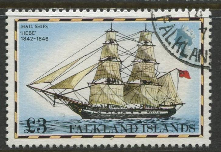 Falkland Is.- Scott 274 - Ships Issue - 1978 - VFU - Single £3 Stamp