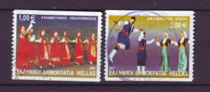 J6270 JL stamps 2002 greece used #2019-20 $9.00scv