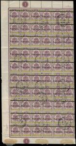 Malaya / Pahang Scott 28 Gibbons 28 Block of Stamps