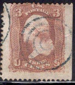 US Stamp Scott #88 E Grill Used SCV $27.50, JUMBO