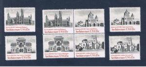 #1838-1841  MNH OG block of 4 & singles Architecture  Free S/H