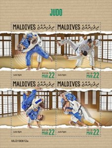 MALDIVES - 2019 - Judo - Perf 4v Sheet - MNH