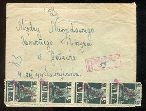 p161 - POLAND 1944 Warsaw 26 PROVISIONAL Registered Cover to Switzerland Goznak